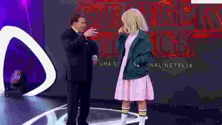 """Silvio Santos promove a série """"Stranger Things"""" durante o encerramento do """"Teleton"""" - Reprodução/SBT"""