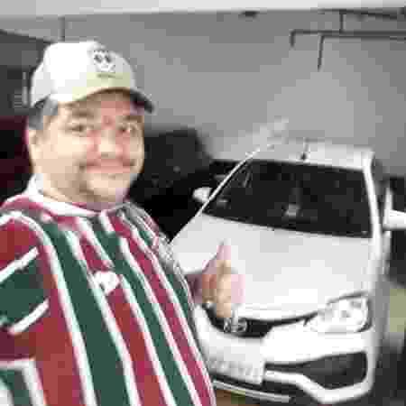 Arthur Barroso Fortes e seu Etios Sedan 1.5 XS - Arquivo pessoal - Arquivo pessoal