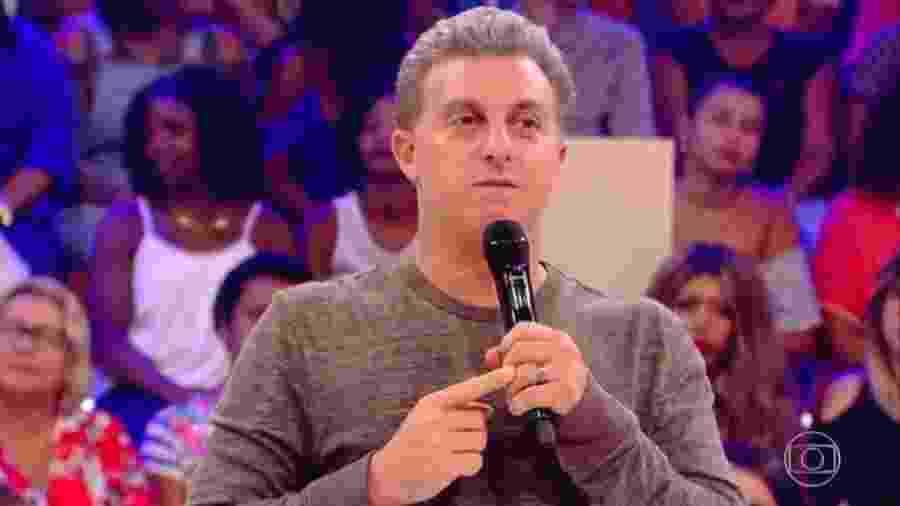 O apresentador Luciano Huck  - Reprodução/TV Globo