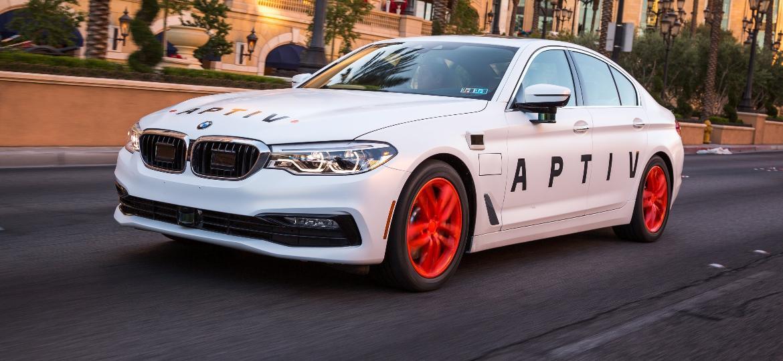 Trinta unidades chamativas do BMW 540i formam frota de autônomos, que podem ser usados por qualquer pessoa em Las Vegas - John F. Martin/Aptiv