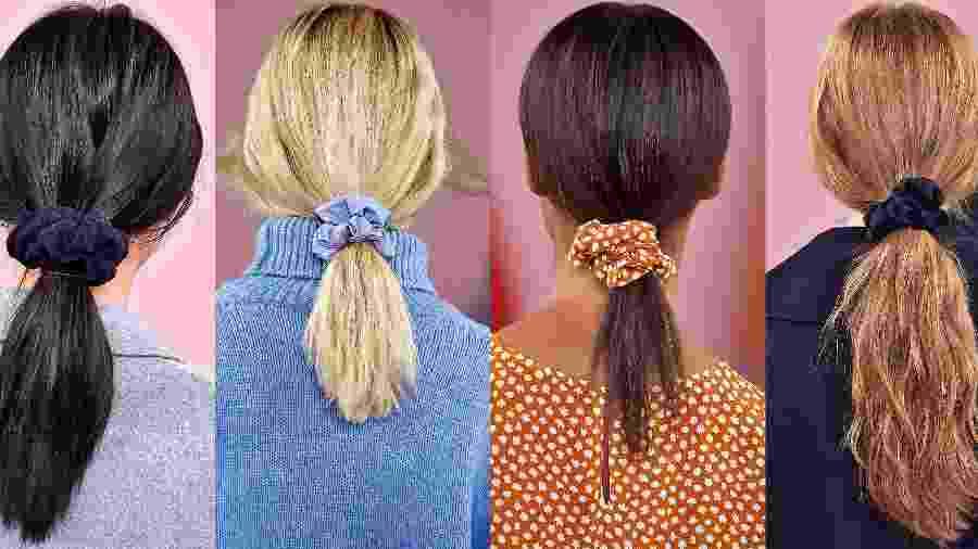 Xuxinhas, scrunchies - no dicionário informal da moda -, frufru ou simplesmente elástico de cabelo: a tendência voltou sim - Reprodução