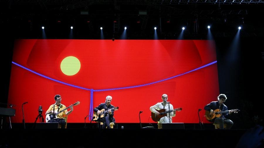 Caetano Veloso se apresenta com os filhos no festival João Rock 2018, em Ribeirão Preto (SP) - Deividi Correa/AgNews