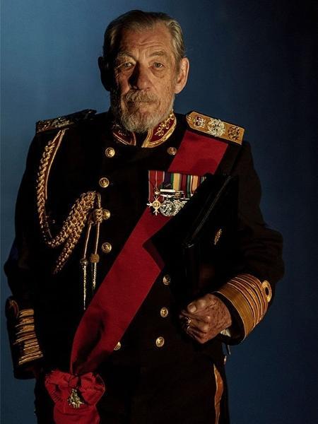 Ian McKellen como Rei Lear no teatro - Reprodução/Twitter
