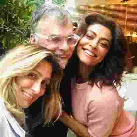 """Amora Mautner, com Walcyr Carrasco e Juliana Paes, faz a direção de """"A Dona do Pedaço"""" - Reprodução/Instagram"""