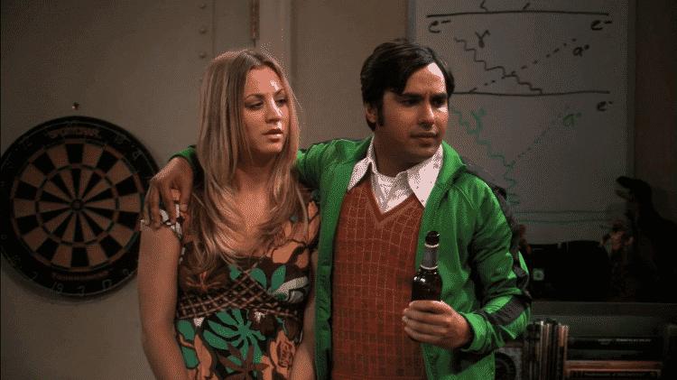 """Penny (Kaley Cuoco) e Raj (Kunal Nayyar) em cena de """"The Big Bang Theory"""" - Reprodução - Reprodução"""