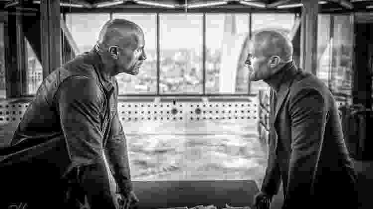 """Dwayne Johnson e Jason Statham em """"Hobbs and Shaw"""" - Divulgação - Divulgação"""