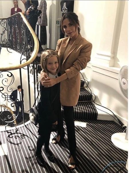Victoria Beckham com a filha Harper - Reprodução/Instagram