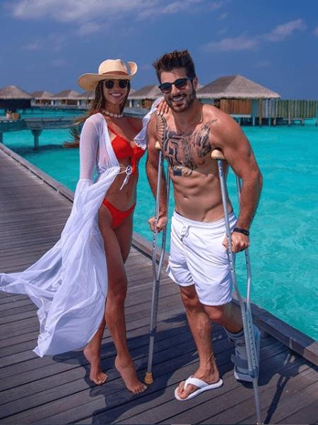Romana Novais e Alok nas Ilhas Maldivas - Reprodução/Instagram
