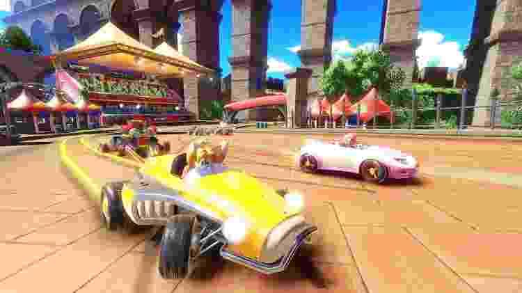 """Somente personagens da série """"Sonic"""" estão disponíveis no jogo - Divulgação"""