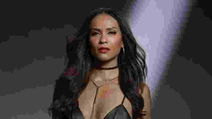 Lesley-Ann Brandt caracterizada como Mazikeen para a série Lucifer - Divulgação/IMDb