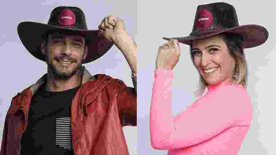 Diego Grossi e Tati Dias estão na quarta roça de A Fazenda 2019 - Montagem/Antonio Chahestian/ Record TV