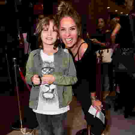 Adriane Galisteu e o filho Vittorio - Leo Franco / AgNews