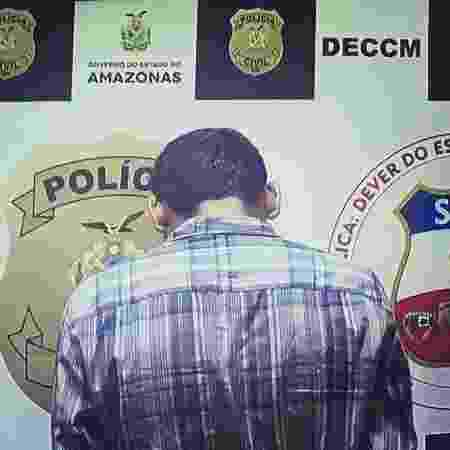 O homem foi preso após jogar panela com feijão quente na mulher e no filho - Divulgação/Polícia Civil do Amazonas
