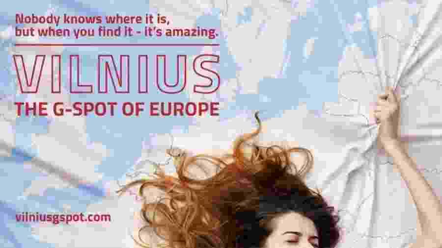 Anúncio de campanha de Vilnius, capital da Lituânia - Divulgação