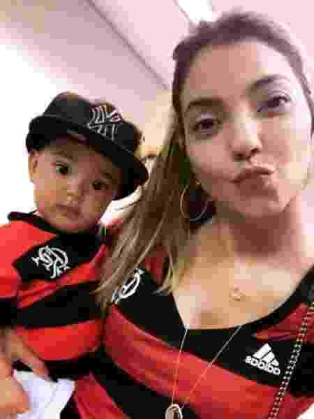 Com a mãe, Marília: baby Guto é fofo demais - Arquivo pessoal