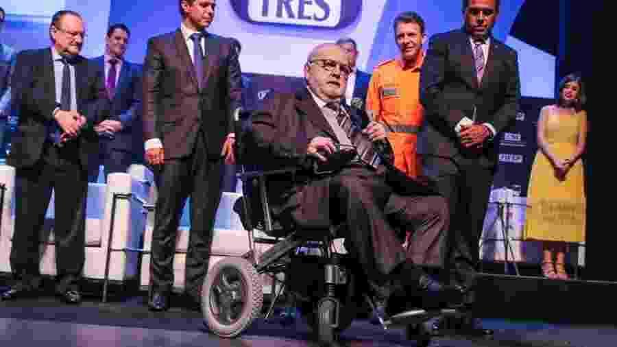 O escritor e apresentador Jô Soares recebe prêmio em São Paulo - Thiago Duran/AgNews
