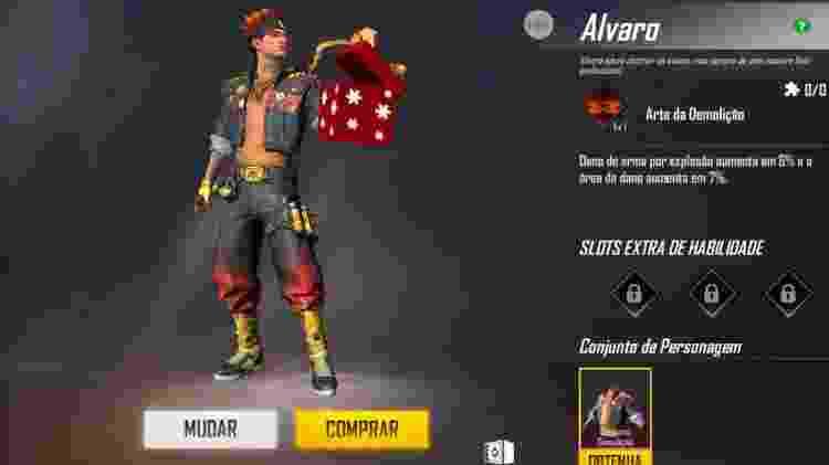 Free Fire Alvaro 1 - Reprodução - Reprodução