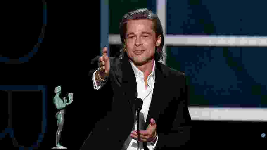 Brad Pitt vence prêmio no SAG Awards - Kevork Djansezian/Getty Images for Turner