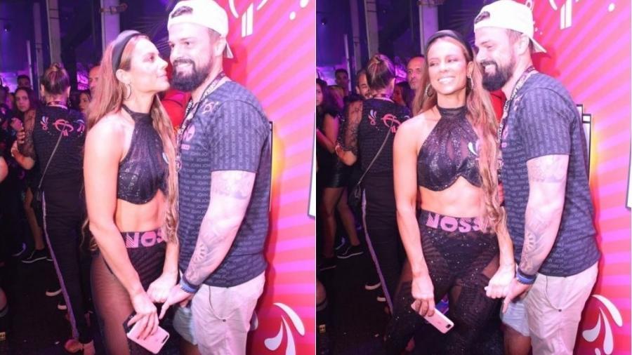 Paolla Oliveira tenta posar beijando novo namorado mas ele vira o rosto - Coluna do Leo Dias
