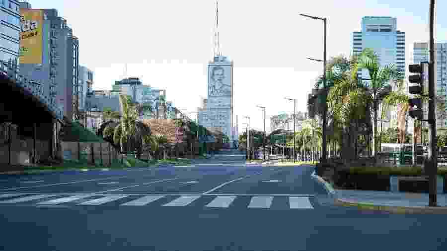 Ruas vazias em Buenos Aires, na Argentina - NurPhoto/Getty Images