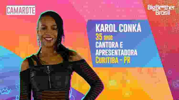 BBB Karol Conká - Divulgação/Globo - Divulgação/Globo
