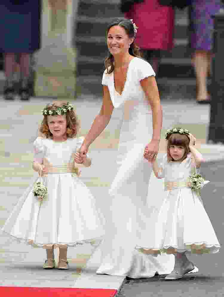 Pippa Middleton no casamento de Kate Middleton e príncipe William, em 2011 - Getty Images - Getty Images