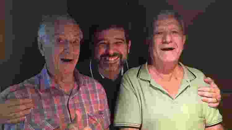 Orlando Drummond e Mário Monjardim se reencontraram em estúdio de dublagem em 2016 - Reprodução/Facebook - Reprodução/Facebook