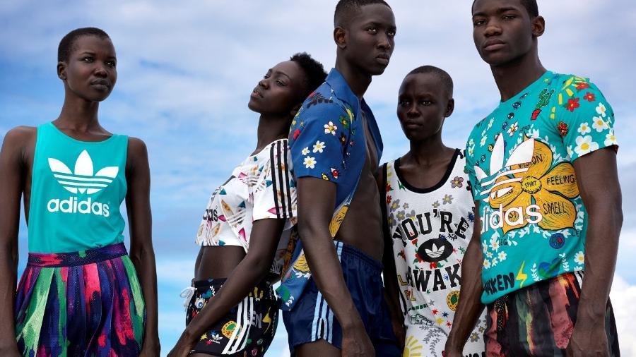 A coleção Pink Beach é a quarta assinada pelo rapper Pharrel Williams em parceria com a marca - Divulgação