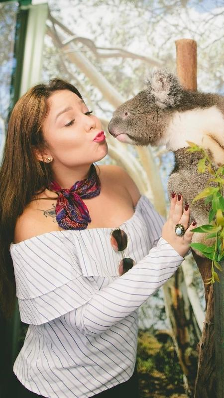 A ex-BBB Cacau visitou o Featherdale Wildlife Park, em Sydney - Reprodução/Instagram