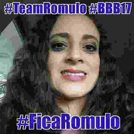 Mulher de Rômulo faz campanha para eliminar Marcos - Reprodução/Facebook