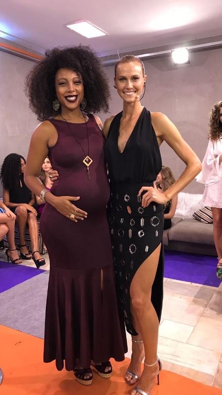 A cantora Negra Li e a apresentadora Renata Kuerten - Divulgação