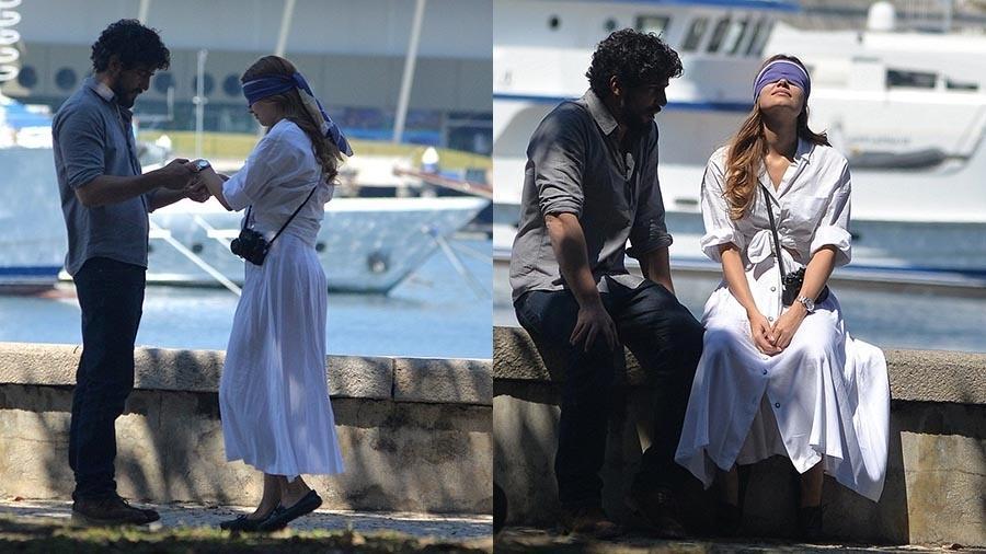 """Sophie Charlotte e Renato Góes gravam cenas de """"Os Dias Eram Assim"""" no Rio - William Oda/Ag.News"""