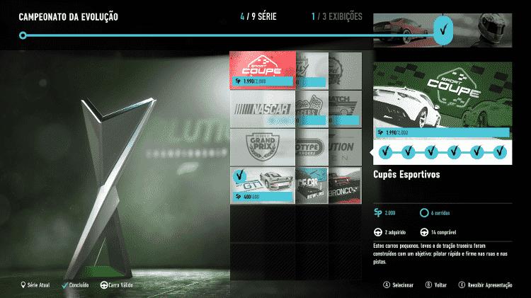 Forza 7 - modo carreira - Reprodução - Reprodução