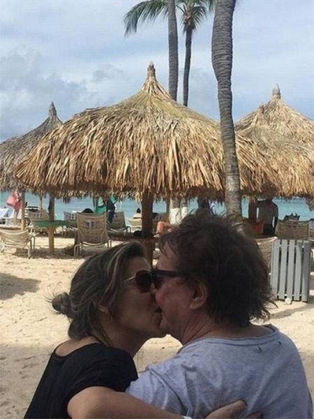 Fábio Jr. e Fernanda Pascucci comemoram um ano de casados em Aruba - Reprodução/Instagram