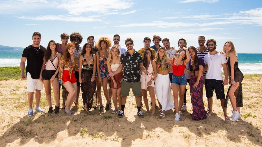 """Caio Castro e os participantes da quarta temporada do """"Are You The One? Brasil"""" - Divulgação/MTV"""