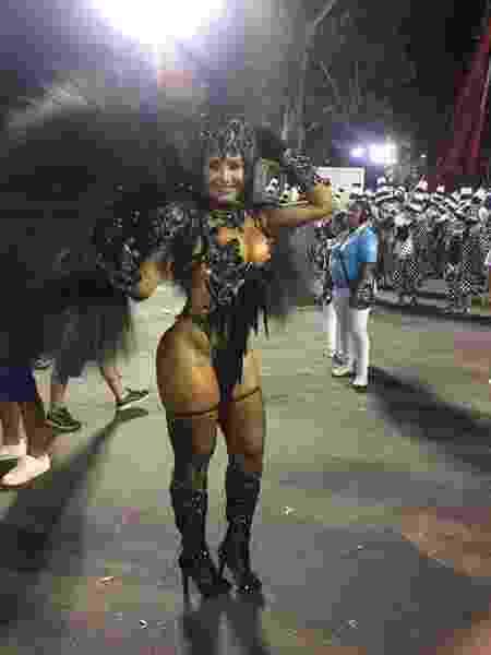 Shayene Cesário mostra fantasia que usará no desfile da Acadêmicos da Rocinha - Divulgação