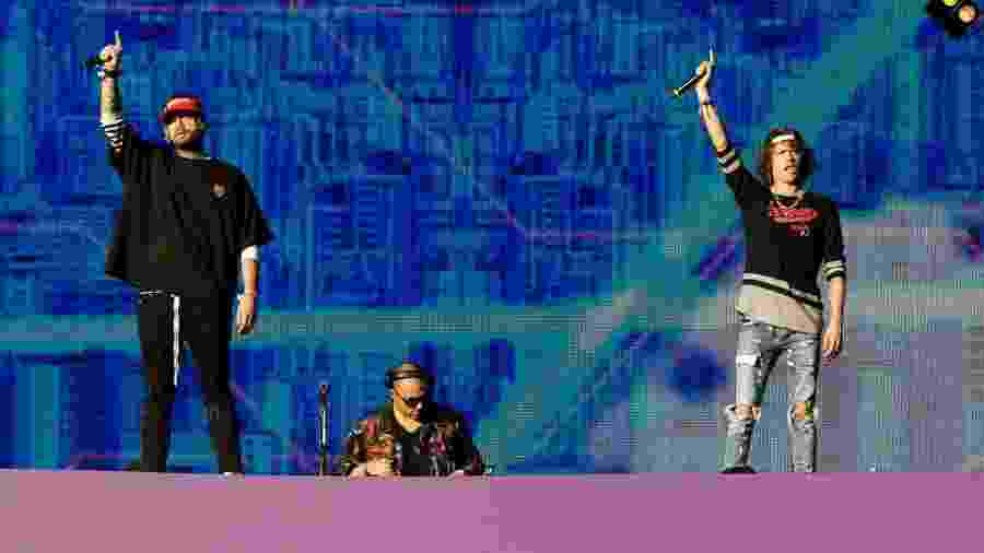 Trio americano Cheat Codes se apresenta no Lollapalooza Brasil 2018 - Mariana Pekin/UOL