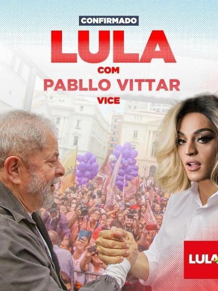Perfil de Lula explica montagem que circula na web - Reprodução/Twitter