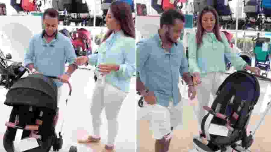 Thammy Miranda e Andressa Ferreira escolhem carrinho para o futuro filho - Reprodução/Instagram