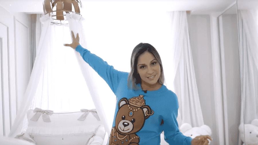 Mayra Cardi mostra o quartinho da filha - Reprodução/Youtube