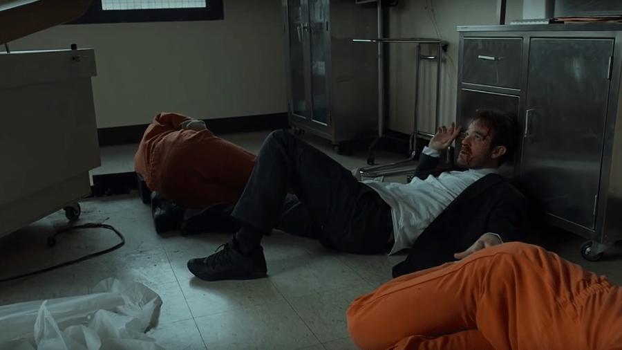 """O ator Charlie Cox como Matt Murdock em """"Demolidor"""", série da Netflix - Reprodução"""