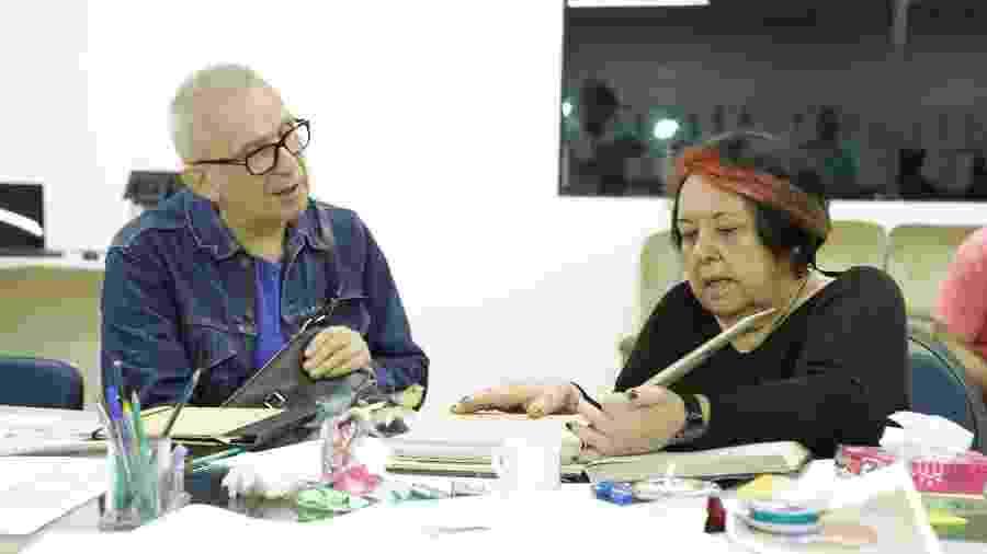 Jean Paul Gaultier e Rosa Magalhães na Portela - Divulgação/Ricardo Lima