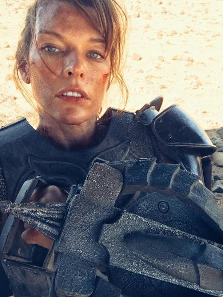 "Milla Jovovich em cena do filme ""Monster Hunter"" - Reprodução/Instagram/millajovovich"