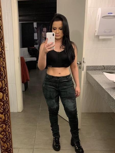 Cantora Maraísa posta foto de barriguinha de fora antes de show no RS - Reprodução/Instagram