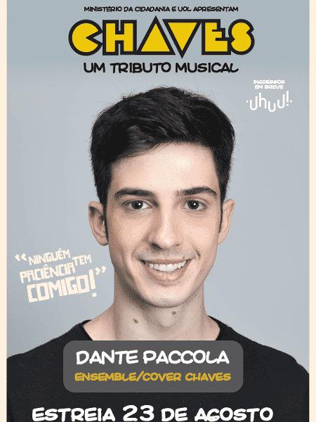 """Dante Paccola fará coro e será substituto de Chaves em """"Chaves - Um Tributo Musical"""" - Divulgação - Divulgação"""