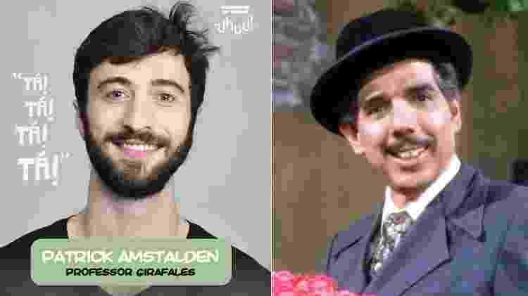 "Patrick Amstalden interpretará Professor Girafales em ""Chaves - Um Tributo Musical"" - Montagem/UOL - Montagem/UOL"