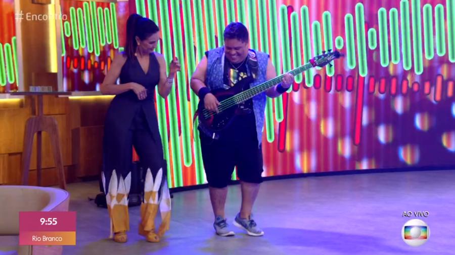 Júnior Groovador no Encontro - Reprodução/TV Globo