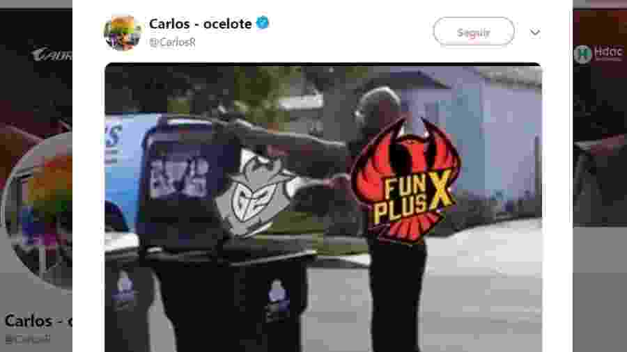 CEO da G2, time que perdeu a final, foi o primeiro a fazer meme - Reprodução