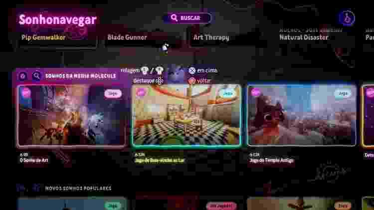 Dreams menu - Reprodução - Reprodução