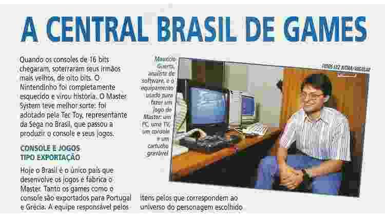 A Central Brasil de Games - Reprodução/Revista Super Game Power, edição 42 - Reprodução/Revista Super Game Power, edição 42